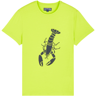 Uomo Altri Stampato - Men Cotton T-Shirt Lobster 3D effect, Citronella front