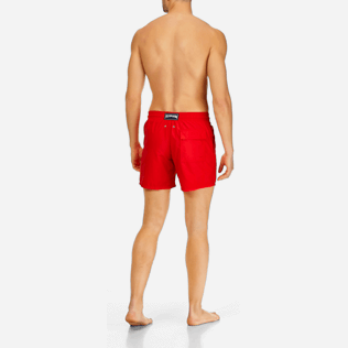 Men Classic / Moorea Printed - Men Water-Reactive Swimwear Magic Whales, Poppy red backworn