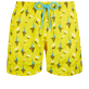 Men Classic Embroidered - Men Swim Trunks Embroidered Bateaux sur l'eau - Limited Edition, Buttercup yellow front