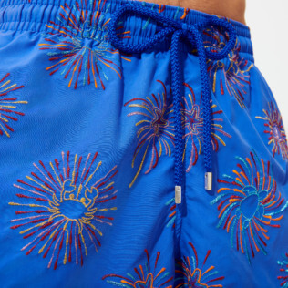 Men Classic Embroidered - Men Swimwear Embroidered Fireworks - Limited Edition, Sea blue supp3
