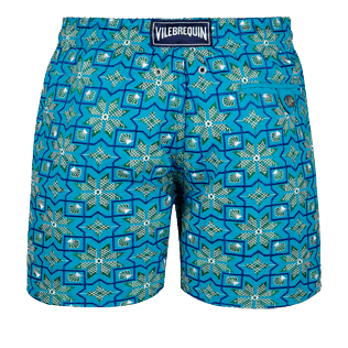 Men 017 Graphic - Men Embroidered swimtrunks Tanger - Limited Edition, Seychelles back