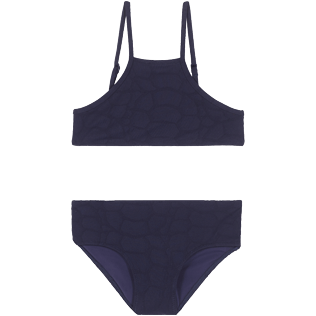 Girls Others Solid - Girls Bikini Turtle Scales, Midnight blue front
