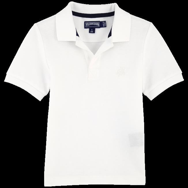 Vilebrequin - Polo Garçon en Piqué de coton Uni - 1