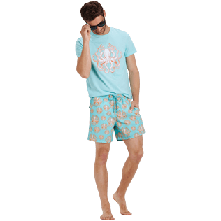 Men Classic Printed - Men Swimwear Poulpes, Lagoon supp2