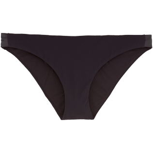 Women Bottoms Solid - Smoking Cut bikini bottom, Black front