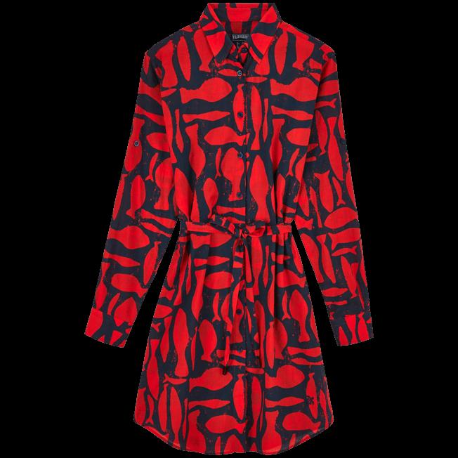 Vilebrequin - Silex Fishes Long dress shirt - 1