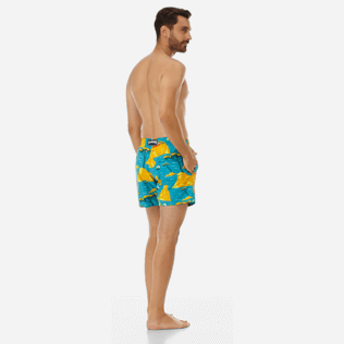 Men Classic Printed - Men swimtrunks Capri, Seychelles backworn