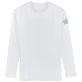Others Printed - Unisex Long Sleeves Rashguards Solid, White front