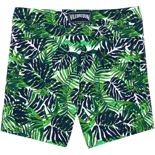 Men Fitted Printed - Madrague Fitted cut Swim shorts, White back