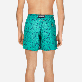 Men Embroidered Embroidered - Men Swimtrunks Embroidered Hypnotic Turtles - Limited Edition, Veronese green supp2
