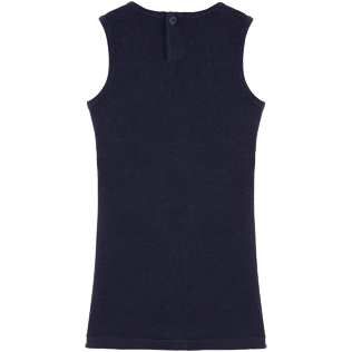 Girls Others Solid - Solid Terry Sleeveless dress, Navy back
