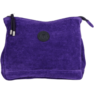 Others Solid - Zipped Beach pouch in Terry Cloth Solid Jacquard, Amethyst front