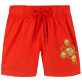 Girls Others Embroidered - Girls Swim Short Christmas Crackers, Medicis red front