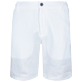 Men Others Solid - Men Linen Bermuda Shorts, White front