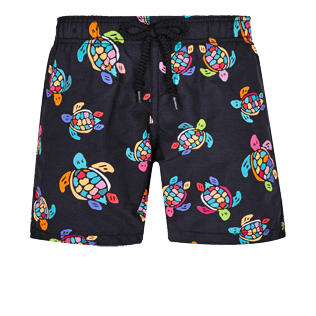 Boys Others Printed - Boys Swim Trunks Over the Rainbow Turtles, Black front