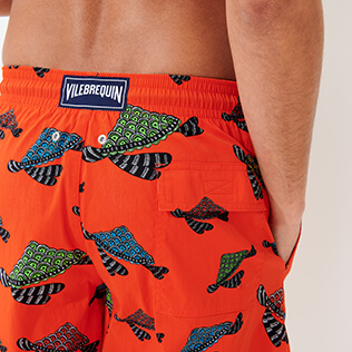 Hombre Clásico largon Estampado - Men Swimwear Long Turtle Swim, Nispero supp1