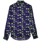 Others Printed - Unisex Linen Jersey Shirt Eels Knitting, Wasabi front