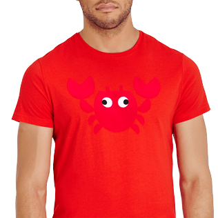 Men Others Printed - Men Cotton T-Shirt Crabs, Medicis red supp1
