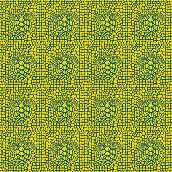 Men Swimwear Stretch Shell Turtles, Citron pattern