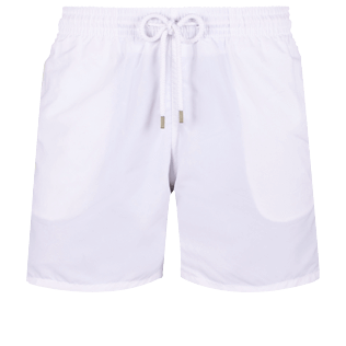 Men Classic Solid - Men Swimwear Solid, White front