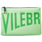 Others Solid - Zipped Beach Pouch Solid, Neon green front