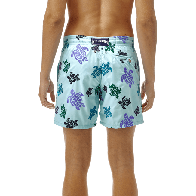 Vilebrequin - Maillot de bain Mistral Broderie Tortues Multicolores All Over - 7