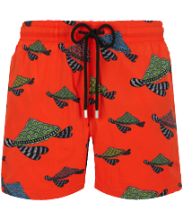 Hombre Clásico stretch Estampado - Men Swimwear Stretch Turtle Swim, Nispero front