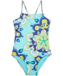 Girls Others Printed - Girls One-piece Swimsuit Kaleidoscope, Lagoon front