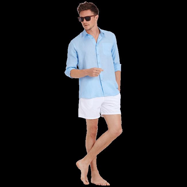 Vilebrequin - Camisa de lino liso para hombre - 6
