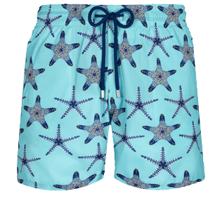 Men Ultra-light classique Printed - Men Swimwear Ultra-light and packable Starfish Dance, Lazulii blue front