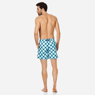 Men Classic Printed - Men Swim Trunks Wax Turtles, Acqua backworn