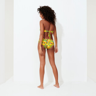 Women Classic brief Printed - Women Bikini Bottom covering brief Go Bananas, Curry backworn