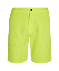 Men Others Solid - Men straight Linen Bermuda Shorts Solid, Coriander front