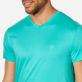 Men Others Solid - Men Mercerized Cotton T-Shirt V-neck Solid, Veronese green supp1