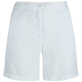 Women Others Solid - Women Linen Bermuda Shorts Solid, White front