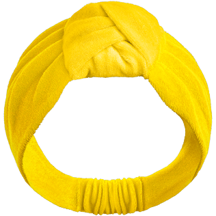 Women Others Solid - Women Headband in terry - Vilebrequin x JCC+ - Limited Edition, Citron front