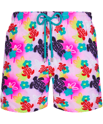 Men Classic Printed - Men Swim Trunks 1988 Turtles Graffiti, Fluo pink front