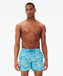 Men Classic Embroidered - Men Swim Trunks Embroidered Go Bananas - Limited Edition, Jaipuy frontworn