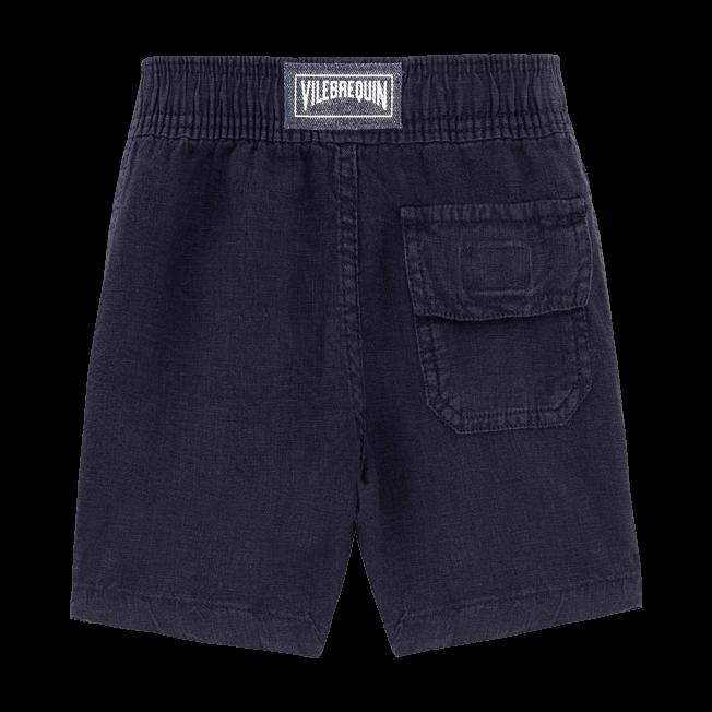 Vilebrequin - Boys Linen Bermuda Shorts Solid - 2