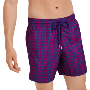 Men Ultra-light classique Printed - Men Swim Trunks Ultra-light and packable Perspective Fish, Plum supp1