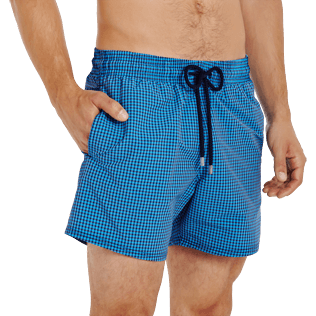 Men Stretch classic Graphic - Men Swim Trunks Stretch Carreaux, Swimming pool supp1