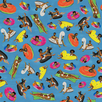托特包 - Vilebrequin x Derrick Adams, Swimming pool pattern