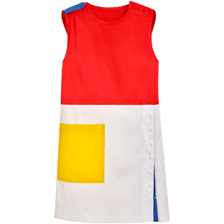 Women Others Solid - Women multicolor sleeveless dress - Vilebrequin x JCC+ - Limited Edition, White front