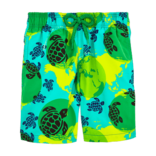 Boys Others Printed - Mappemonde Dots Swim Shorts TE MANA O TE MOANA, Veronese green front