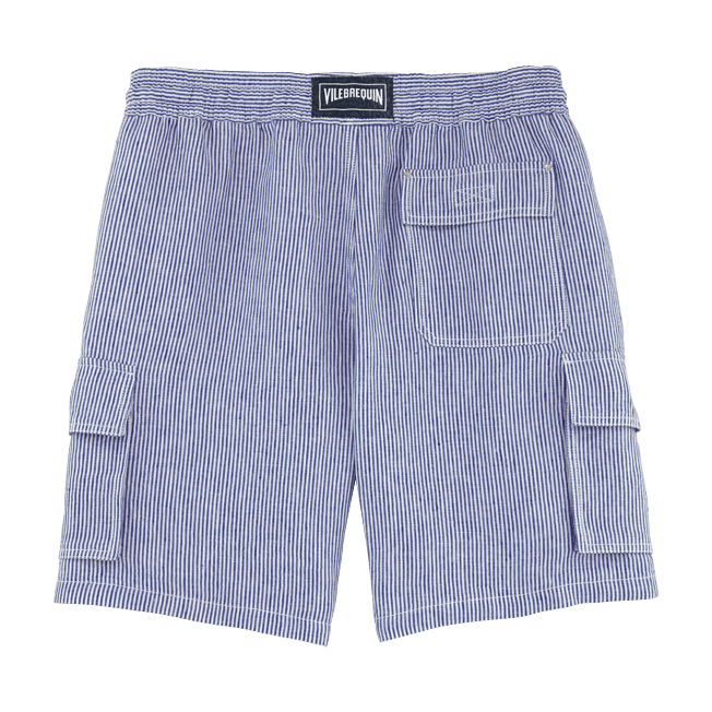 Vilebrequin - Stripped Linen bermuda shorts - 2