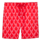 Men Classic / Moorea Printed - Valentine Day Hippocampes Swim shorts, Poppy red front