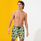 Men Ultra-light classique Printed - Men Swim Trunks Ultra-light and packable 1981 Flower Turtles, Sapphire frontworn
