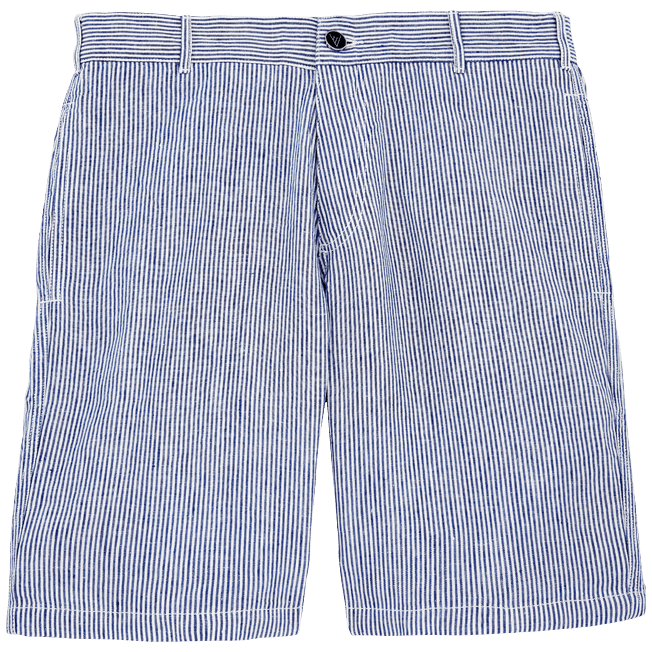Vilebrequin - Bermudas rectas con estampado Micro Stripes - 1