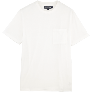 Men Tee-Shirts Solid - Men Pima Cotton Jersey T-shirt Solid, White front