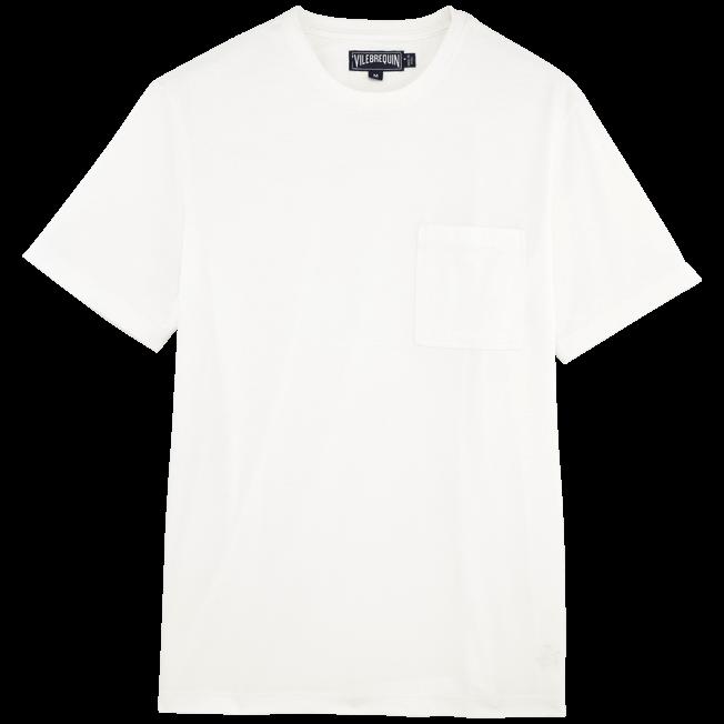 Vilebrequin - T-shirt en Jersey de Coton Pima Homme Uni - 1